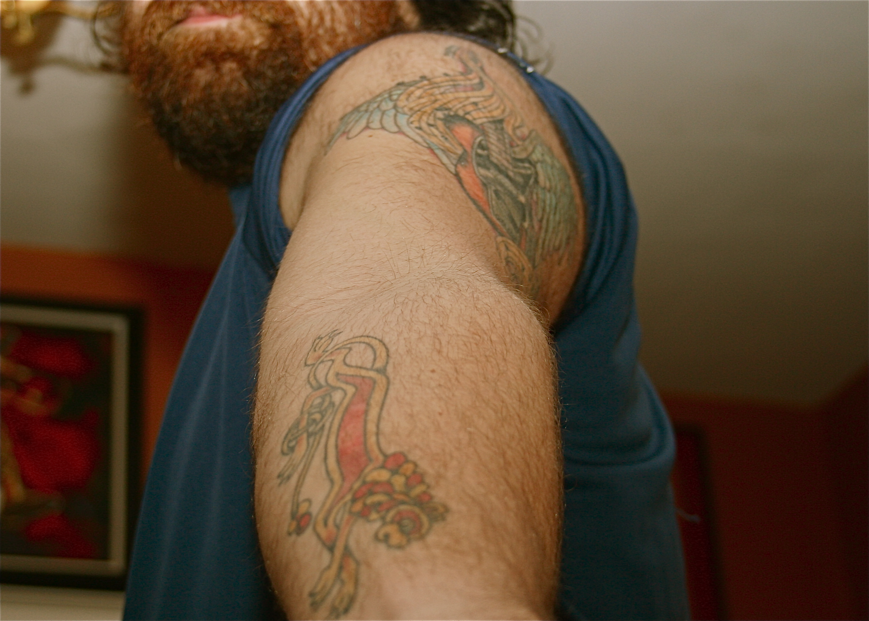 91657d7a6b0ac my two favorite tattoos - my forearm is a celtic lion for my son Leo, and  the upper arm is my first guitar - a telecaster that my wife bought me. it  ...
